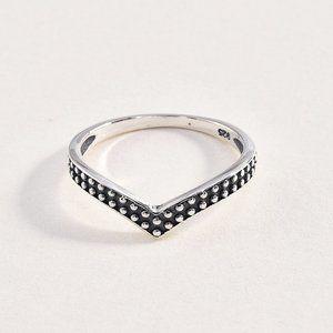 """Sterling 925 """"V"""" Shaped Ring"""